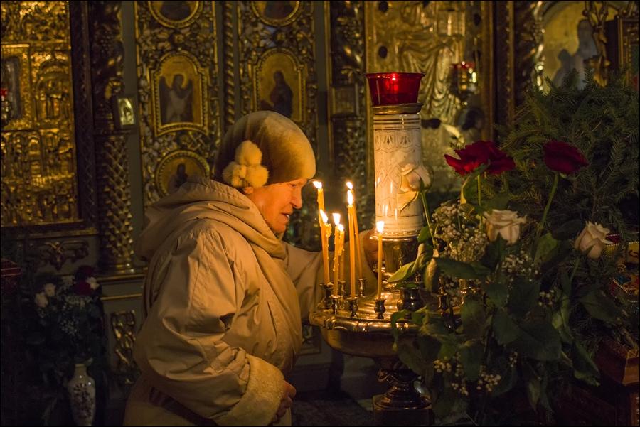 Рождество Христово. Казанский храм села Шеметово. Сергиево-Посадский район. 6 января 2015 года